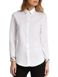Burberry Button Front Shirt White