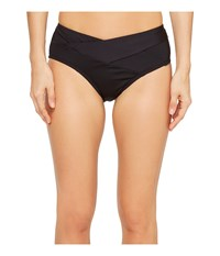 Kenneth Cole Sexy Solids Crossover Hipster Bottom Black Women's Swimwear