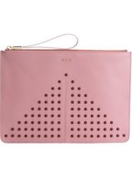 Tod's Studded Zipped Clutch