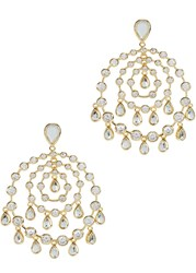 Isharya Pyramid Mirror Allure Gold Plated Earrings