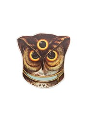 Undercover Owl Brooch Brown