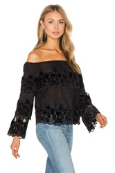 Endless Rose Off The Shoulder Top Black