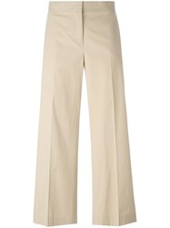 Fabiana Filippi Cropped Trousers Nude Neutrals