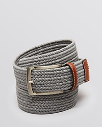 The Men's Store At Bloomingdale's Stretch Braided Belt Light Grey
