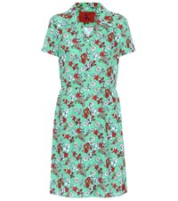 Calvin Klein Jeans Floral Printed Dress Green