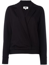 Maison Martin Margiela Mm6 Wrap Blazer Black