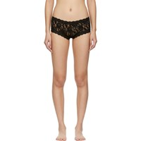 Hanky Panky Black Lace Boy Shorts