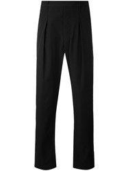 Christophe Lemaire Pleated Trousers Men Cotton 54 Black