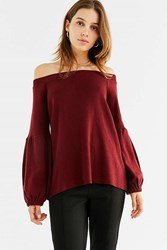 Kimchi And Blue Jules Off The Shoulder Sweater Red
