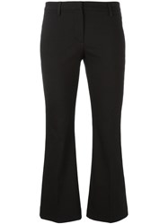 Brunello Cucinelli Flared Cropped Trousers Black
