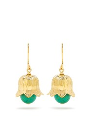 Aurelie Bidermann Lily Of The Valley Gold Plated Earrings Yellow Gold