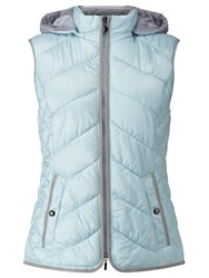 Gerry Weber Hooded Quilted Jacket Sky