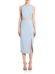 Nicholas Bandage Waist Cutout Dress Cashmere Blue