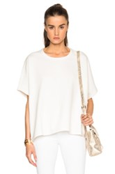 James Perse Brushed Fleece Poncho In White