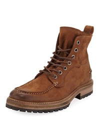 John Varvatos Ellis Suede Work Boot Brown
