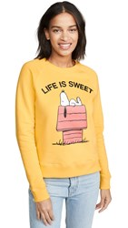 Chinti And Parker Life Is Sweet Sweatshirt Yellow