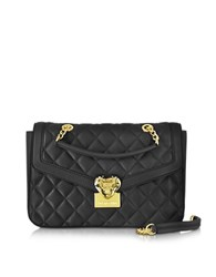 Love Moschino Heart Quilted Eco Leather Shoulder Bag Black