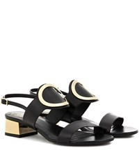 Roger Vivier Leather Sandals Black