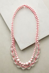 Anthropologie Neo Agate Layer Necklace Pink