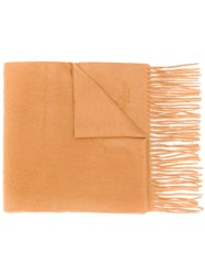 Mulberry Cashmere Woven Scarf Neutrals