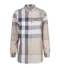 Burberry Check Cotton Shirt Female Camel