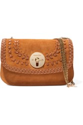See By Chloe Lois Suede And Textured Leather Shoulder Bag Tan