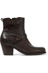 Rag And Bone Harper Leather Ankle Boots Dark Brown
