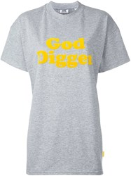 Gcds Golden Nugget Applique T Shirt Grey