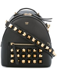 Fendi Studded Backpack Black
