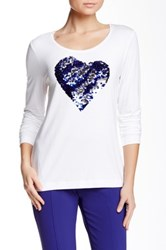Escada Eantigoni Sequin Heart Tee White