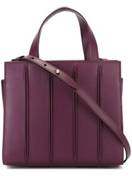 Max Mara Small 'Whitney' Tote Pink And Purple