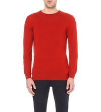 Reiss Hart Wool Jumper Burnt Amber