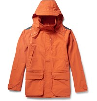The Workers Club Hooded Cotton Canvas Jacket Orange