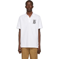 Burberry White Monogram Warren Polo