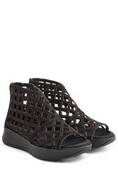 Burberry Shoes And Accessories Suede Sandals Black