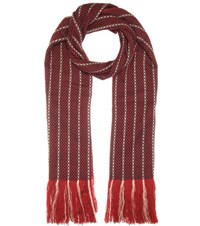 Isabel Marant Alva Wool And Cashmere Scarf Red