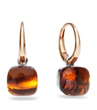 Pomellato Nudo Madeira Quartz Rose Gold Earrings Female