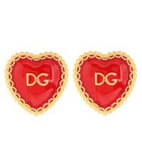 Dolce And Gabbana Clip On Earrings Red