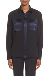 Women's Pink Tartan Satin Trim Utility Shirt