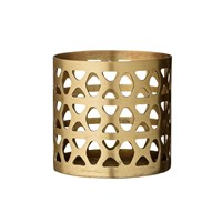 Day Birger Et Mikkelsen Brass Votive Latticed 8X8cm