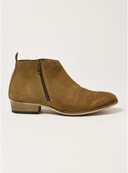 Topman Brown Tan Suede Mount Zip Boots