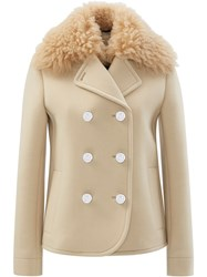 Paco Rabanne Caban Coat Neutral