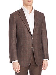 Hickey Freeman Wool And Cashmere Blazer Brown