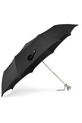 Alexander Mcqueen Embellished Shell Umbrella Black