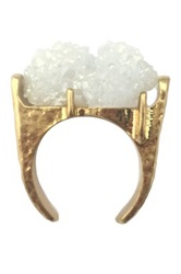Jami White And Gold Druzy Ring No Color