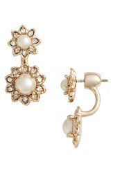 Marchesa Women's Crystal And Faux Pearl Ear Jackets