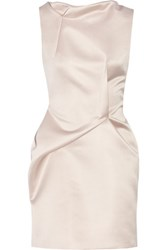 Roland Mouret Zonda Satin Mini Dress Cream