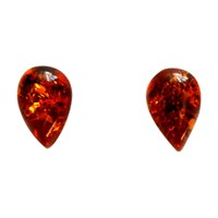 Goldmajor Amber And Silver Teardrop Earrings