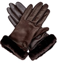 Ugg Classic Leather Smart Gloves Brn