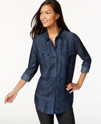 Calvin Klein Jeans Button Front Charred Indigo Wash Shirt
